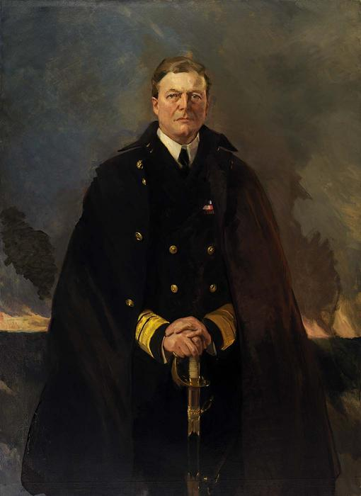 Admiral Sir David Beatty, Lord Beatty 1, Oil by Cecilia Beaux (1855-1942, United States)