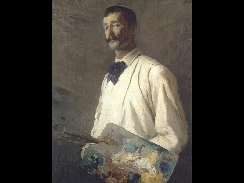 Alexander Harrison, Oil by Cecilia Beaux (1855-1942, United States)