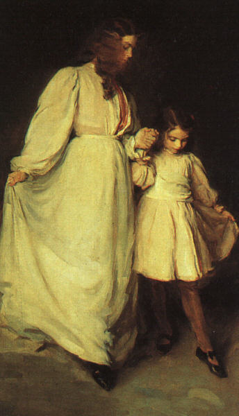 Dorothea and Francesca, Oil by Cecilia Beaux (1855-1942, United States)