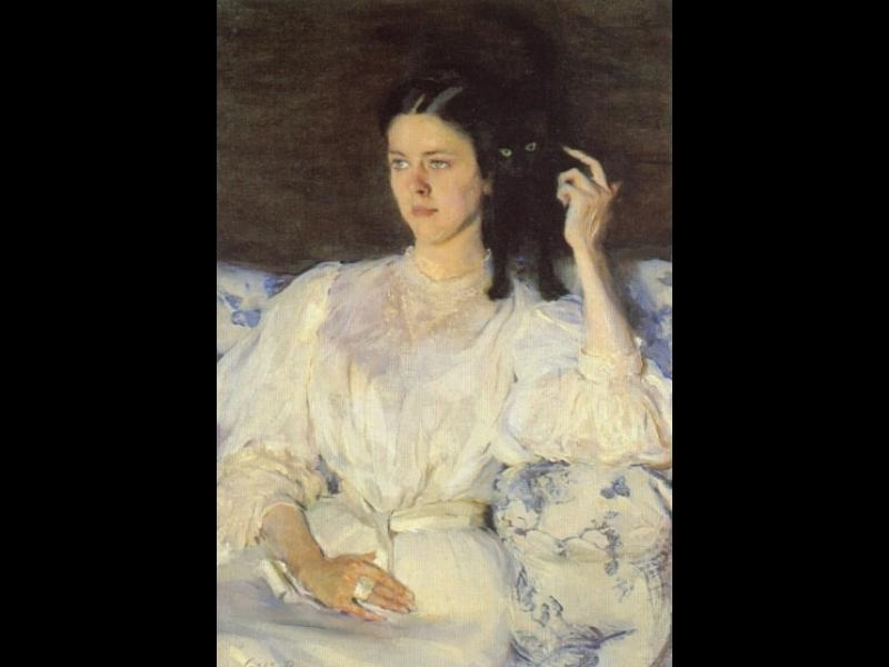 Girl with a Cat by Cecilia Beaux (1855-1942, United States) | Museum Quality Reproductions | WahooArt.com
