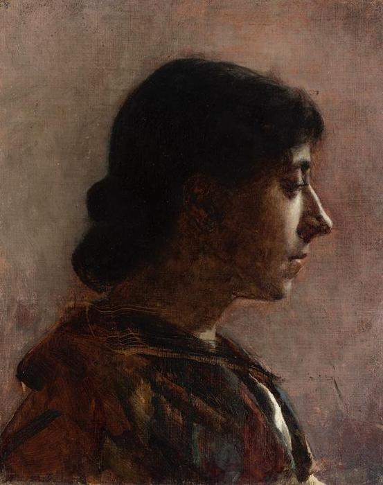 Head of a Woman 2, Oil by Cecilia Beaux (1855-1942, United States)