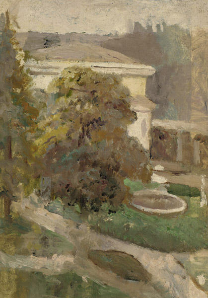 Landscape with Villa and Fountain by Cecilia Beaux (1855-1942, United States) | WahooArt.com