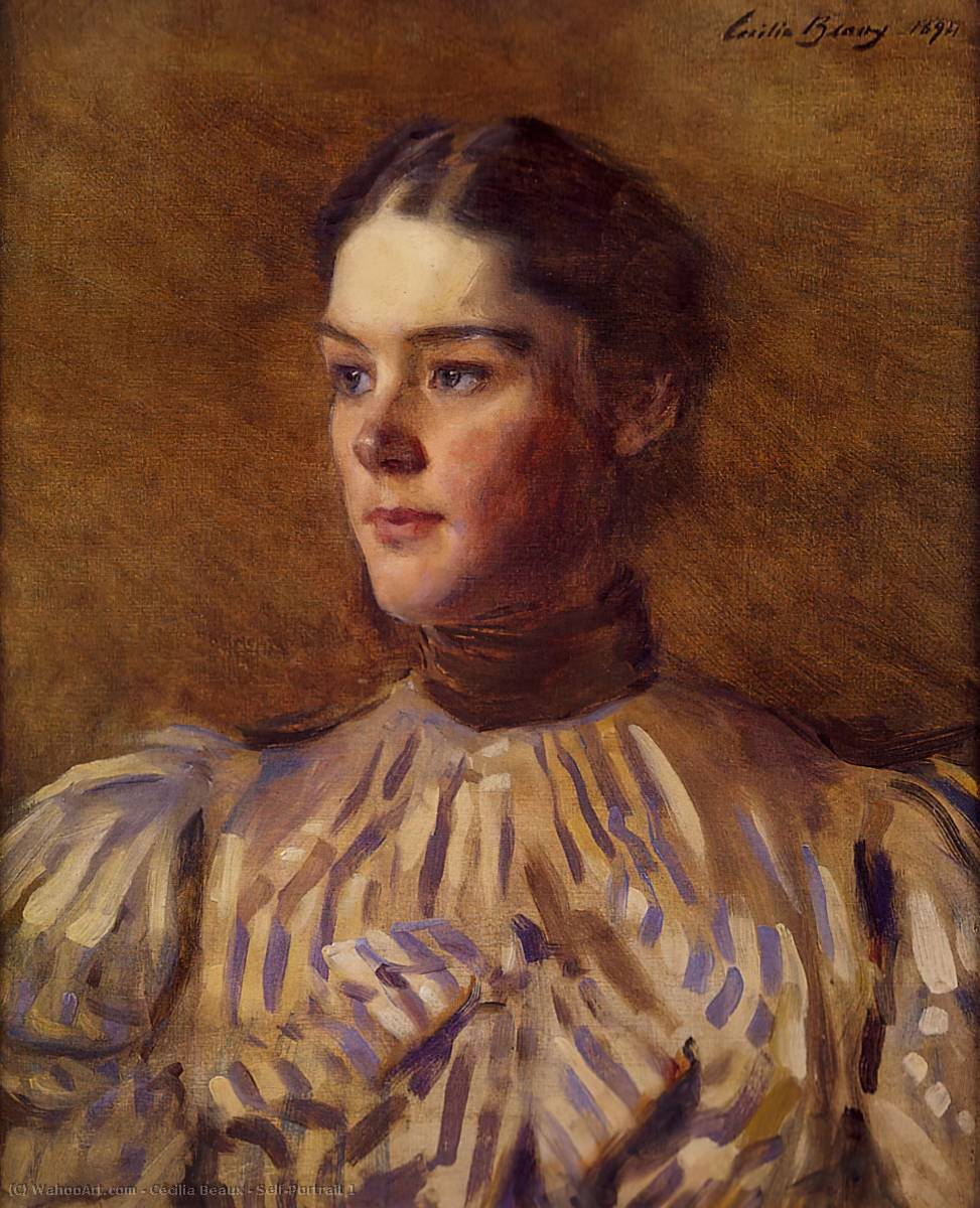Self-Portrait 1 by Cecilia Beaux (1855-1942, United States) | Art Reproduction | WahooArt.com