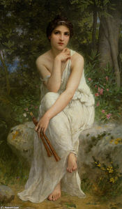 Charles Amable Lenoir - The Flute Player
