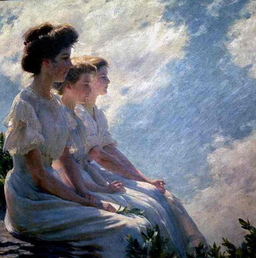 On the Heights by Charles Courtney Curran (1861-1942, United States) | Museum Quality Reproductions | WahooArt.com