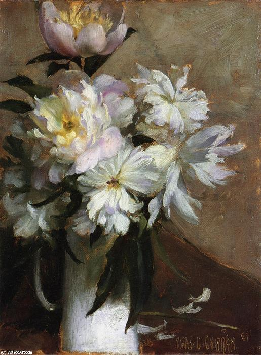 Peonies 1 by Charles Courtney Curran (1861-1942, United States) | Famous Paintings Reproductions | WahooArt.com