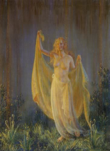 Sunshine And Rain by Charles Courtney Curran (1861-1942, United States) | Museum Quality Reproductions | WahooArt.com