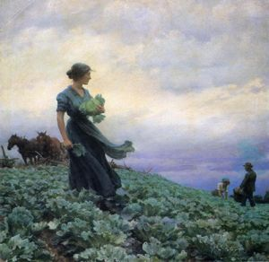 Charles Courtney Curran - The Cabbage Field