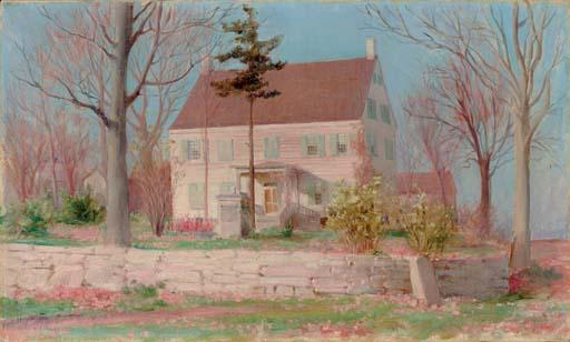 The Family Homestead, Connecticut by Charles Courtney Curran (1861-1942, United States) | Painting Copy | WahooArt.com