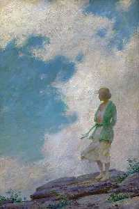 Charles Courtney Curran - The Green Jacket