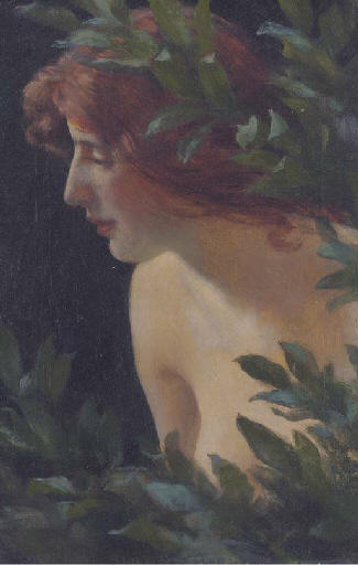 Wood nymph study by Charles Courtney Curran (1861-1942, United States) | Painting Copy | WahooArt.com