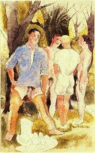 Charles Demuth - Four male figures
