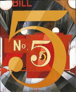Charles Demuth - I saw the figure 5 in gold (Homage to William Carlos Williams)