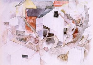 Charles Demuth - Trees and Barns. Bermuda