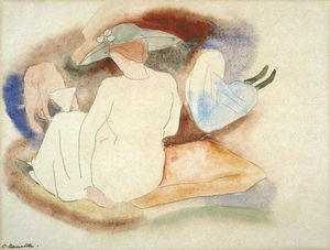 Charles Demuth - Woman with Hat and 2 Figures