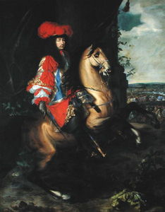 Charles Le Brun - Equestrian Portrait of Louis XIV of France