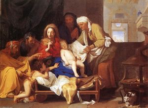 Charles Le Brun - Holy Family with the Adoration of the Child