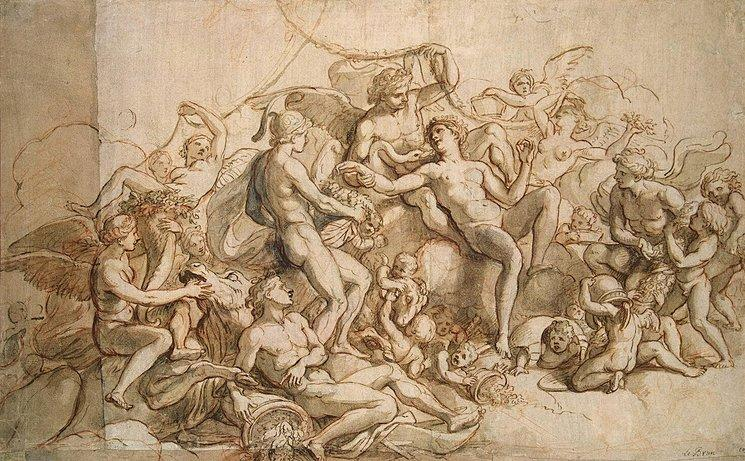 Spring by Charles Le Brun (1619-1690, France) | Painting Copy | WahooArt.com
