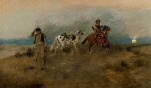 Charles Marion Russell - A Horse Apiece
