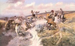 Charles Marion Russell - A Tight Dally and a Loose Latigo