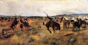 Charles Marion Russell - Breaking Camp