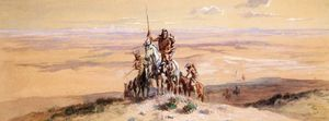 Charles Marion Russell - Indians on Plains