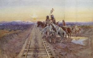 Charles Marion Russell - Trail of the Iron Horse