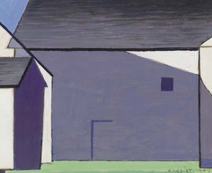 Charles Rettew Sheeler Junior - Barn Abstraction