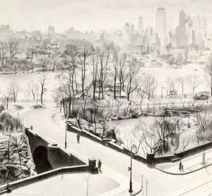 Charles Rettew Sheeler Junior - View of Central Park