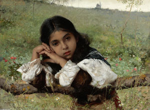 Charles Sprague Pearce - Moments of Thoughtfulness