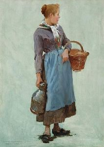 Charles Sprague Pearce - Peasant Girl