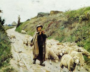 Charles Sprague Pearce - Return of the Flock