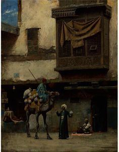 Charles Sprague Pearce - THE POTTERY SELLER IN OLD CITY CAIRO