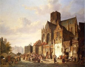 Cornelis Springer - View of Montelspran
