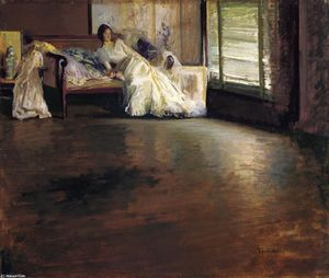 Edmund Charles Tarbell - Across the Room (aka By the Window or Leisure Hour)