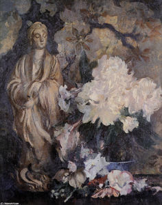 Edmund Charles Tarbell - Still Life with Oriental Statue