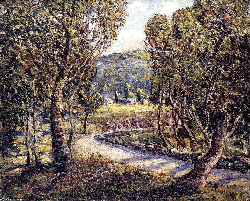 A Turn Of The Road (Tennessee) by Ernest Lawson (1873-1939, Canada) | Museum Art Reproductions Ernest Lawson | WahooArt.com