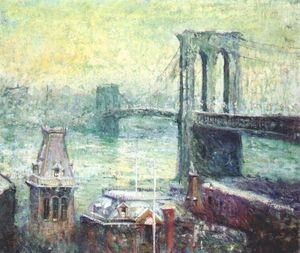 Ernest Lawson - Brooklyn Bridge