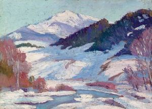 Ernest Lawson - Colorado Landscape, Winter