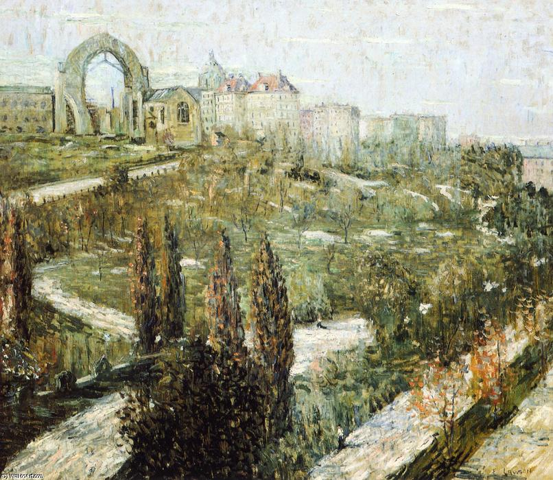 Morningside Heights, Oil On Canvas by Ernest Lawson (1873-1939, Canada)