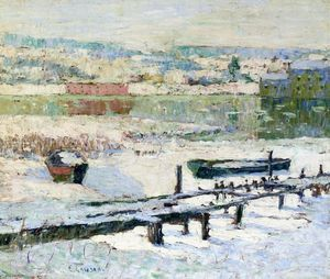 Ernest Lawson - River in Winter