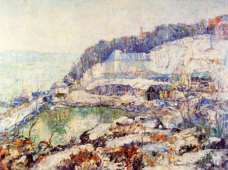 The Hudson at Inwood, Oil by Ernest Lawson (1873-1939, Canada)