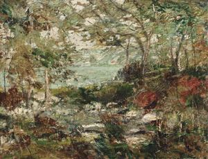 Ernest Lawson - Trees and Rocks