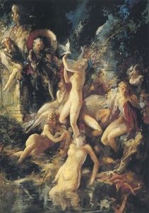 Everett Shinn - Bathing Wood Nymphs