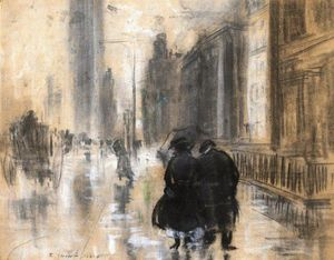 Everett Shinn - Fifth Avenue