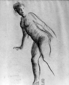 Everett Shinn - Study of Nude Woman