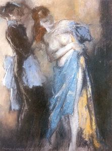 Everett Shinn - Young Woman and Her Maid