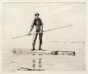 Frank Weston Benson - Log Driver