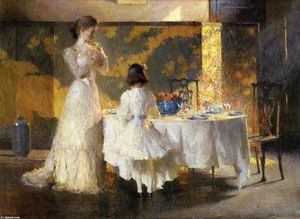 Frank Weston Benson - The Artist's Daughters (aka The Dining Room)