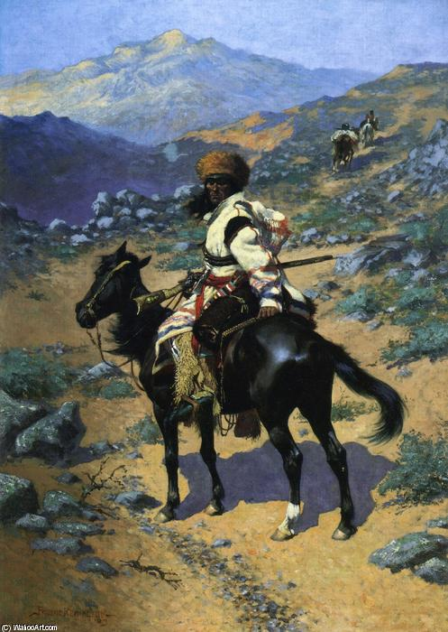 An Indian Trapper, Oil On Canvas by Frederic Remington (1861-1909, United States)